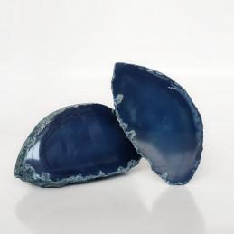 Agat niebieski - przecięty...