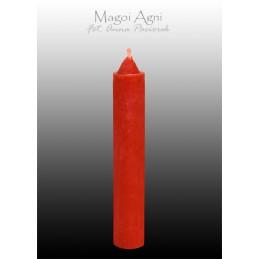Świeca z wosku - czerwona 10 x 1,8 cm