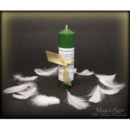 Świeca archanielska rafael - zielona